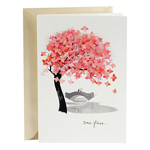 Hallmark Signature Love Card, Time Flies (Romantic Anniversary Card, Birthday Card, Sweetest Day Card) (Our First Card Christmas)