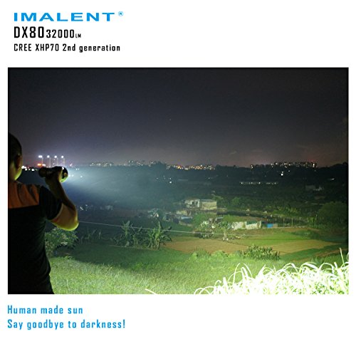 Imalent DX80 Flashlights High Lumens 32000 Lumens Searchlight LED Flashlights Built-in Battery by IMALENT (Image #6)