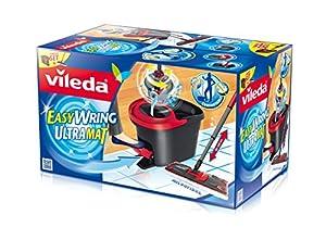 Vileda 133877 EasyWring Ultramat Komplett-Set mit Powerschleuder - Ultramat...