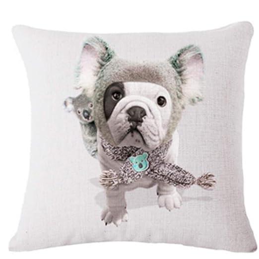 WDDGPZBZ Almohada Netter Divertido Perro Bulldog de Modo de ...