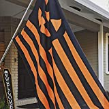 Monord Halloween Flag Pumpkin face Jack O Lantern Polyester Flag with Brass Grommets 3 X 5 Ft