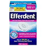 Efferdent Original Anti-Bacterial Denture Cleanser Tablets, 102 Count