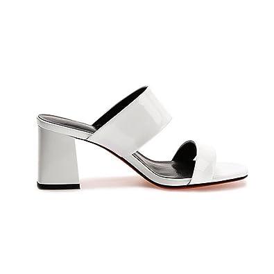 2baf166c04827 Amazon.com | T-JULY Womens Fashion Slide Sandals High Heel Leather ...