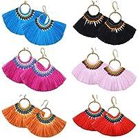 Misaky Womens Bohemian Earrings Tassel Fringe Dangle Earrings Gifts