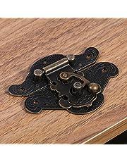 sieraden doos klink hasp, eenvoudig te installeren klink hasp, kast hasp, sieraden doos voor vintage houten kist voor zware houten kist