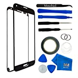 Front Glass for Samsung Galaxy A5 A500 (2015) Black Display Touchscreen incl 12 pcs Tool Kit / Pre-cut Sticker / Tweezers/ Roll of 2mm Adhesive Tape / Suction Cup / Metal Wire / Microfiber cleaning cloth MMOBIEL