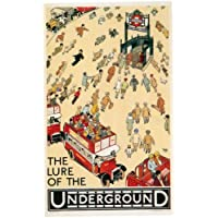 London Underground - The Lure Of The Underground 1927 - LU057 Satin Paper A2 Size