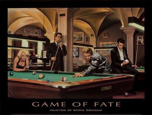 Game of Fate Art Poster Print by Chris Consani (Chris Consani Game)