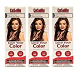 CoSaMo - Love Your Color Non-Permanent Hair Color 775 Light Ash Brown - 3 oz. (Pack of 3) + FREE Travel Toothbrush, Color May Vary