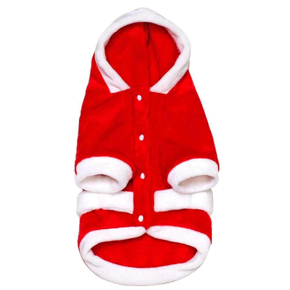 BESTOYARD Hundebekleidung Weihnachten Flanellkleidung Winter Dicke Warme Kapuzenmantel Weihnachten Haustier Kleidung Kostü m, Grö ß e XXL L0KE28EKBEEH01288E5LXTJA