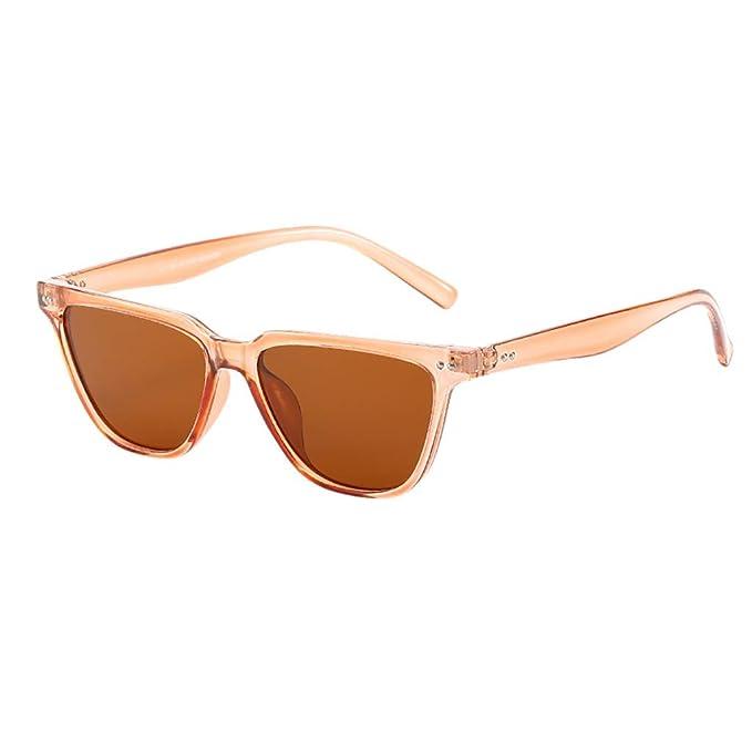 Yolmook - Gafas de sol vintage para mujer, marco grande ...