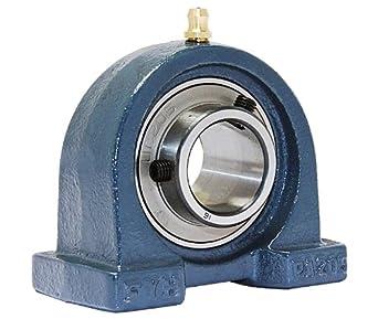 "FYH UCPA205-16 Pillow Block Mounted Bearing, 2 Bolt, 1"" Inside Diameter, Set screw Lock, Cast Iron, Inch"