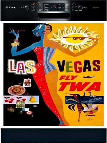 Amazon.com: Las Vegas viaje Vintage lavaplatos cubierta ...