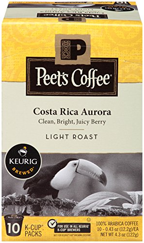 Costa Rica Light Roast - K-Cup Pack Peet's Coffee Costa Rica Aurora Light Roast K-Cup Pack 10ct