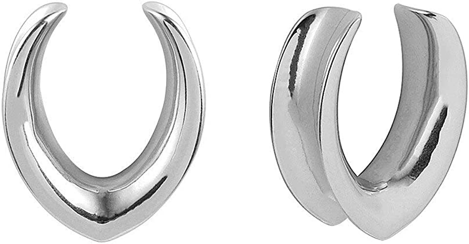 SUPTOP 2pcs Plugs and Tunnels for Ears Stainless Steel Ear Gauges Unique Stretching Kit Size 0g-3//4 Inch