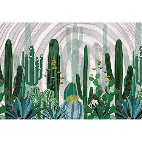 (Yeele Cactus 10x7ft Photography Background Tropical Plant Aloe Black and White Circle Summer Photo Backdrop Portrait Shooting Studio Props Wallpaper)