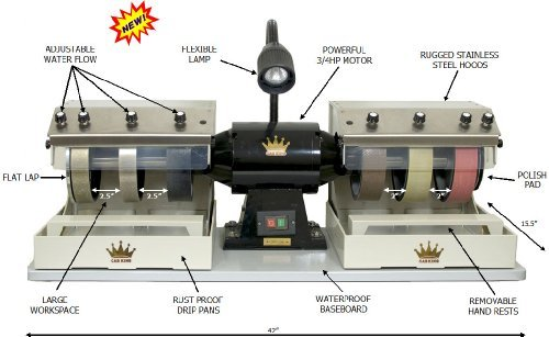 (48 state only) CAB KING 8 lapidary rock grinding polishing cabochon machine