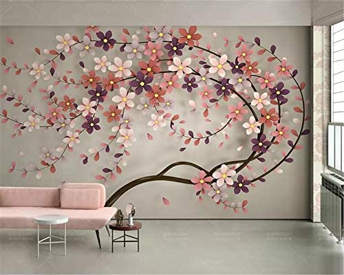 Custom Mural New Tree Flower Nordic Modern Stereo Silk