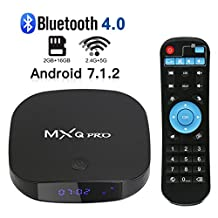 2018 Latest MXQ Pro Android 7.1 TV Box 2GB+16GB Supporting Dual 2.4G/5G WiFi/BT 4.0/4K (60HZ) Full HD/H.265