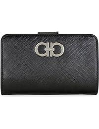 Womens Wallets On Sale, Black, Saffiano Leather, 2017, One size Salvatore Ferragamo