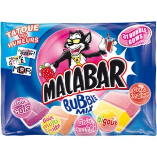 Malabar Chewing Gum Bubble Mix 214g (Chewing Gum Wrapper)