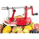 Denshine - Cortador de Esquinas de Acero Inoxidable 3 en 1 para Manzanas, Patatas, Frutas, etc.