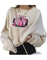Vrouwen Sweatshirts Halloween Losse Crew Neck Lange Mouw Sweatshirt Herfst Winter Pompoen Pullover Tops