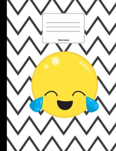 Emoji Composition Book: Laughing With Tears Emoji, Wide Ruled, Softcover Journal, 100 pages/200 sheets, 9 3/4