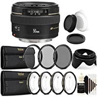 Canon EF 50mm f/1.4 USM Standard Lens for Canon SLR Cameras - Fixed Lens with Accessory kit
