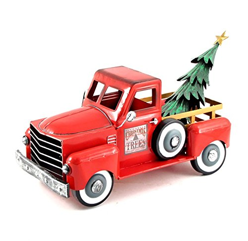 Zaer Ltd. Metal Holiday Truck with a Removable Christmas Tree (Shiny Red) from Zaer Ltd.
