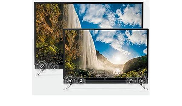 TELE System TV LED 43 pulgadas SOUND43 LED08 TV LED con sintonizador DTT/SAT, y barra de sonido integrada: Amazon.es: Electrónica