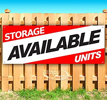 Flag Storage Units Available 13 Oz Heavy Duty Vinyl Banner Sign with Metal Grommets