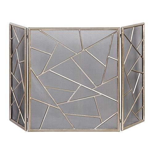 Uttermost 20072 Armino Modern Fireplace Screen, Silver