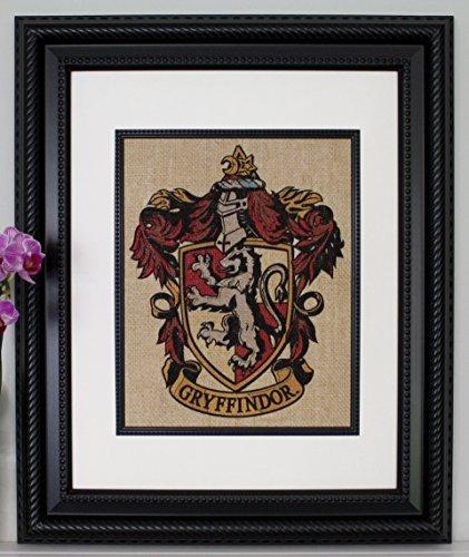 Gryffindor Crest - Harry Potter Wall Art, Burlap Wall Art, Color Wall Art from AppalachianCharmVA