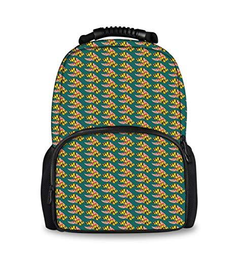 COLORFULSKY Hiking Picnic Running Backpack Daypack Durable Polyester Anti-Theft Multipurpose Rucksack Big Capacity Shoulder Bag, Maryland State Flag Crab