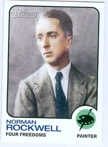 norman-rockwell-trading-card-2009-topps-heritage-66-painter-illustrator-unsigned