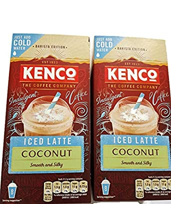 Kenco Coconut Iced Latte Coffee 2 Pack Bundle Amazoncouk