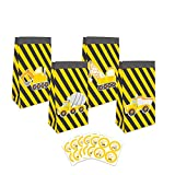24 Pack Construction Theme Goodie Favor Bags with Thank You Stickers,Truck Themed Candy Treat Bags...