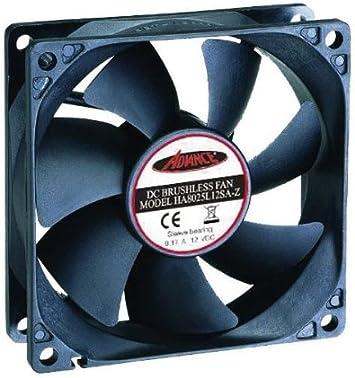 Ventilador para PC 12 V 80 x 80 x 25 mm CE Ventilador con Conector ...