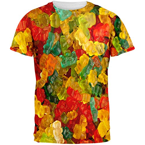 Candy Gummy Bears All Over Adult T-Shirt - Small (Gummy Bear Shirt compare prices)