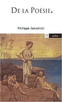 De la poésie par Jaccottet
