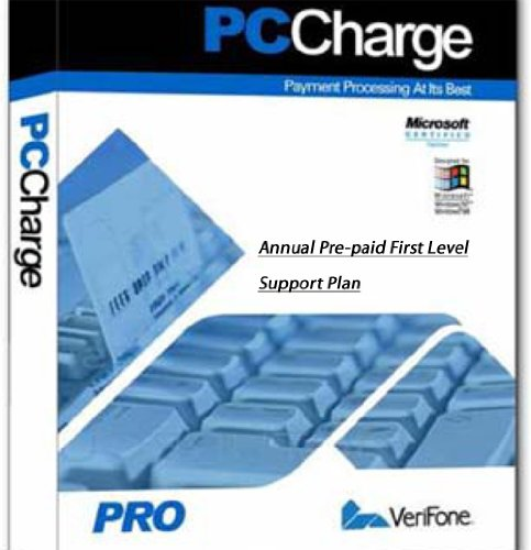 (PCCharge Pro License Single Merchant/User, Version 5.7 and Higher (5.8, 5.9, 5.10), PCCharge Payment Server. Annual Pre-paid Verifone Support Plan Included)