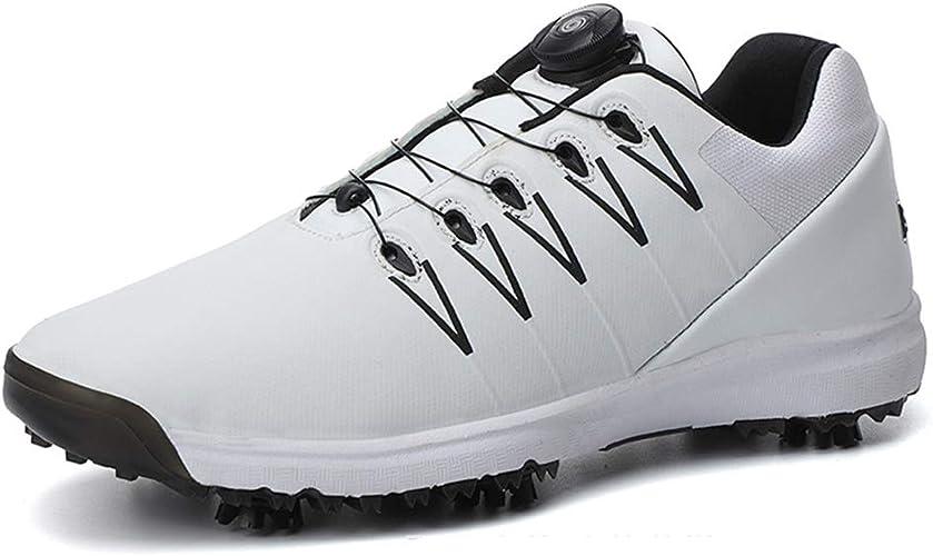 Golf Shoes Mens UK Black BOA No Laces