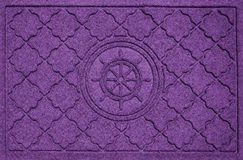 Aqua Shield Bombay Ship's Wheel Mat, 2 by 3-Inch, Purple