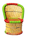 HM Services Cane Bamboo Chair for Outdoor/Indoor/Furnishing/Color: Multicolor