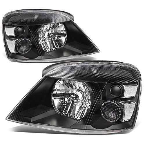 For 04-07 Ford Freestar/Mercury Monterey Black Housing Clear Corner Headlights/Lamps - Pair
