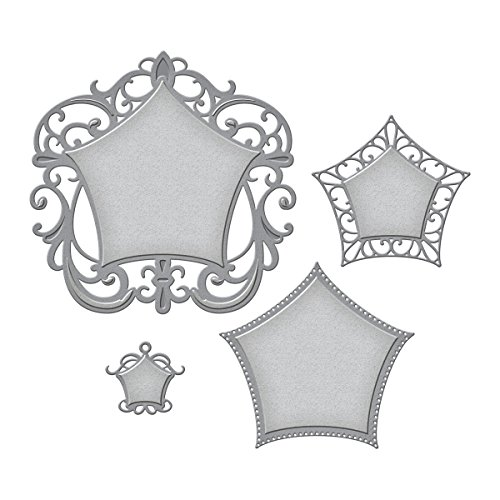 (Spellbinders S6-044 New Nestabilities Label 48 Decorative Elements Etched/Wafer Thin Dies )