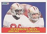 Jerry Rice and Joe Montana Football Card (San Francisco 49ers) 1990 Fleer #397 Super Bowl MVP