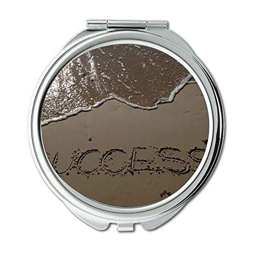 Mirror,Compact Mirror,beach ocean sand,pocket mirror,portable -