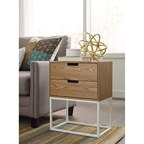 Serta Camden 2 Drawer Side Table in Classic Pine